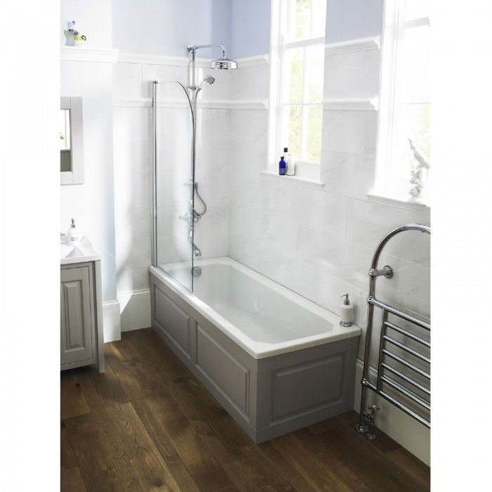 Grey And White Panelled Bathroom: Stone Grey Victoriana Bath Panel 1700mm